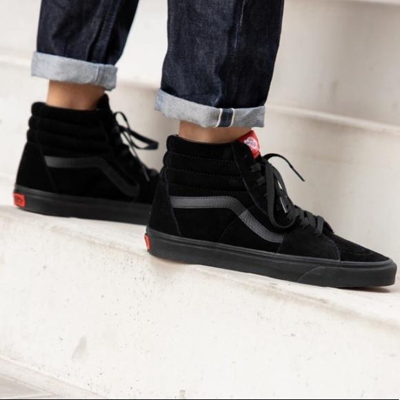 Vans Classic SK8-Hi Triple Black Suede Sneakers